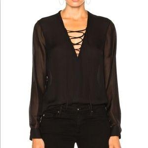 🎉HP 🎉 NWT L' Agence Black Silk Top - XS